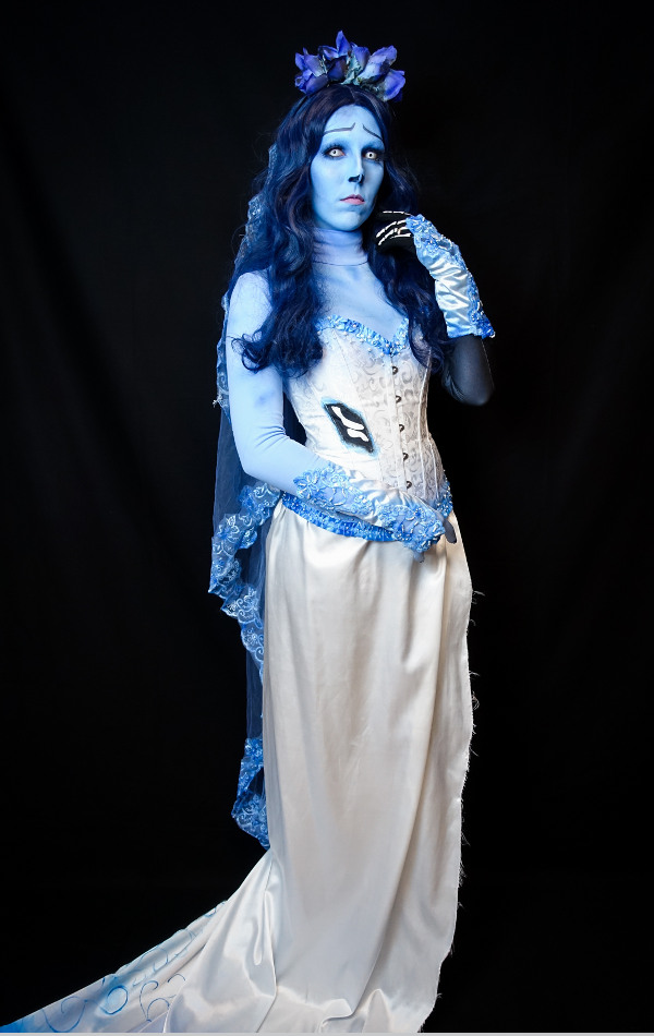 Emily Corpse Bride Tim Burton Bodypaint Make Up Bodysuit