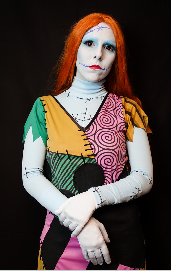 Sally The Nightmare before Christmas Tim Burton Bodypaint Make Up Bodysuit